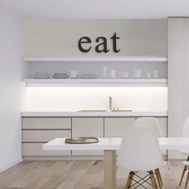 Kitchen Decor Wooden Letters Eat Original Font Wall Signs Sign
