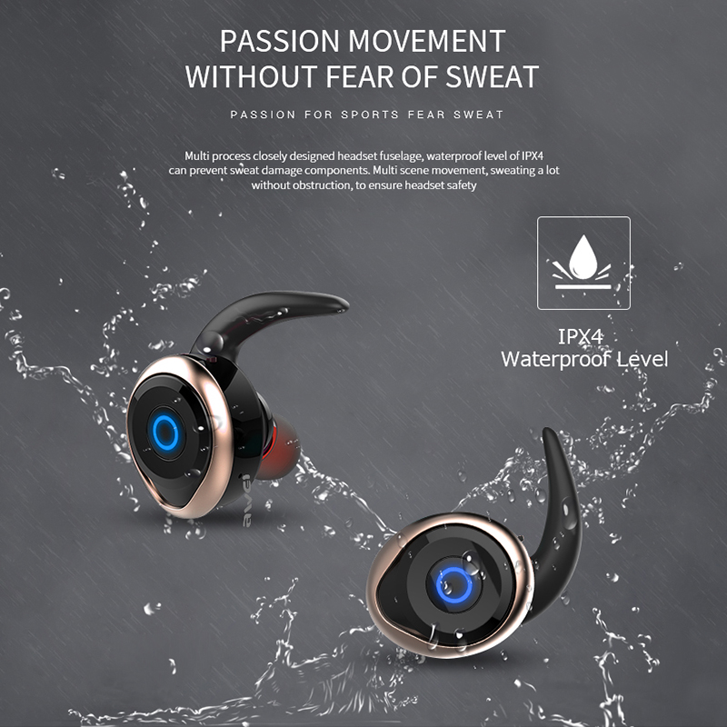 AWEI T1 TWS Bluetooth Earphone Ture Wireless Earbuds In-Ear Earpiece With Mic Stereo Mini Handsfree Headset For Phone With MIC 2