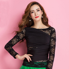 New Fashion Modern lace long sleeve Latin Dance clothes top for women/female/girl, Tango Samba Ballroom Costume performance wear