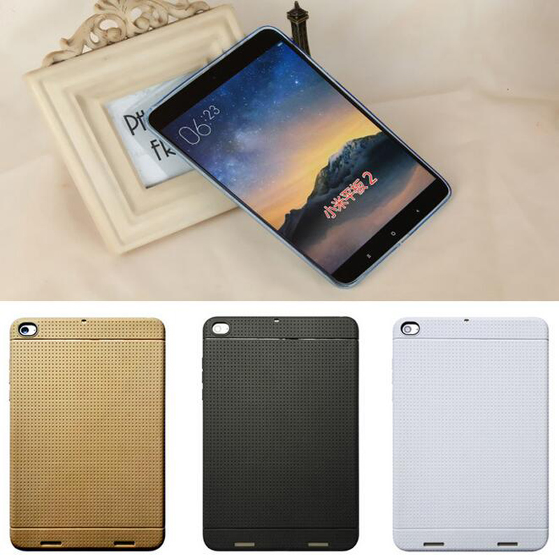 Tablets Case for Xiaomi Mi Pad 2 Mipad 3 Soft Rubber Tablet Case Slim Silicone Shockproof Protective Back Cover luxury pu leather case cover for xiaomi mi pad 1 2 3 mipad 2 3 7 9 tablet pc sleeve pouch bag cases for mipad3 can satnd case