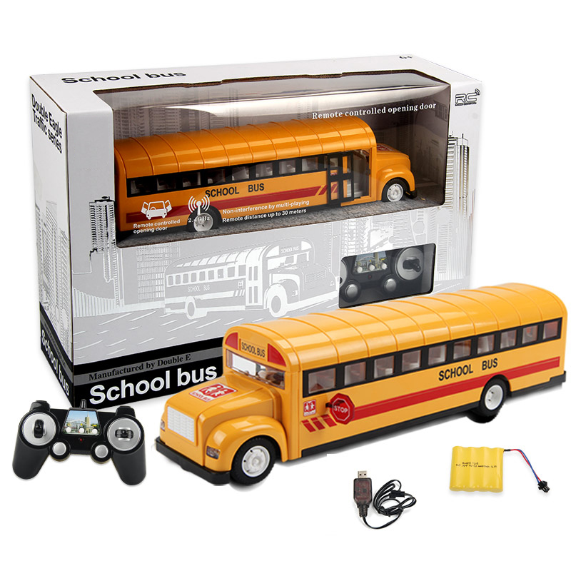 Simulation Radio remote control School Bus 2.4G Radio RC Car Toys for Children Model Electric RC Car Toy for Kids