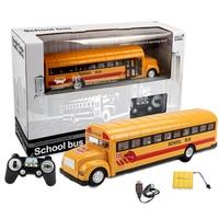 Simulation Radio remote control School Bus 2.4G Radio RC Car Toys for Children Model Electric RC Car Toy for Kids