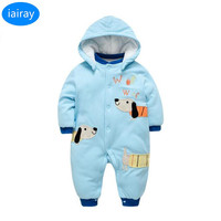 iairay baby winter rompers thermal clothing baby boy clothes warm snowsuit 1st birthday kids jumpsuit outerwear infant overalls