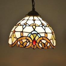 Tiffany lighting baroque pendant light bedroom multicolour glass lamp 8