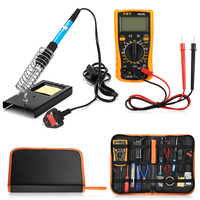 23 in 1 60W Multifunction Soldering Iron Tools Set for Various Electronic Devices With PU Bag EU US UK Plug|Hand Tool Sets| |  -