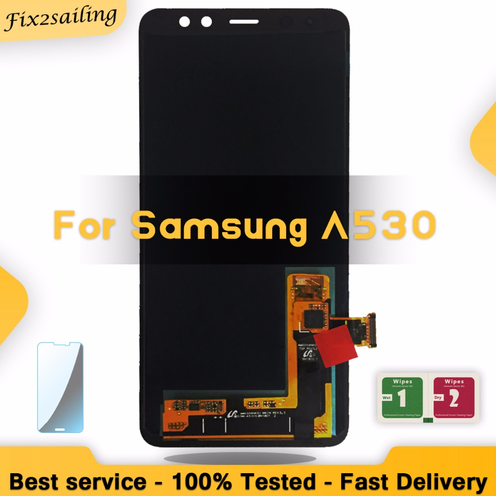 LCD Display For SAMSUNG Galaxy A8 2018 LCD A530 LCD Touch Digitizer Assembly Brightness AdjustedLCD Display For SAMSUNG Galaxy A8 2018 LCD A530 LCD Touch Digitizer Assembly Brightness Adjusted