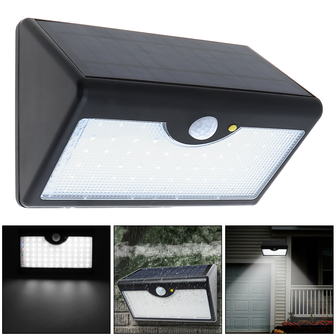 Solar Energy Lamp Outdoor Fence Lamps Waterproof Landscape Courtyard Lights Stair Wall Colorful Light With Three-way Switch Security & Protection Access Control
