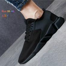 LZLV Fashion Men Casual Shoes Breathable Mesh Shoes Black Trend Men Shoes Free Delivery