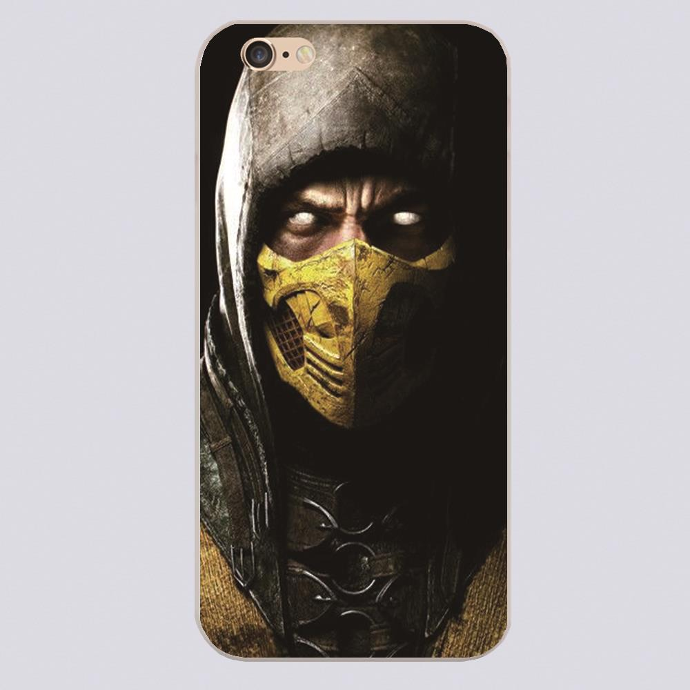 Scorpion in Mortal Kombat Design black skin case cover cell mobile phone cases for iphone 4 4s 5 5c 5s 6 6s 6plus hard shell