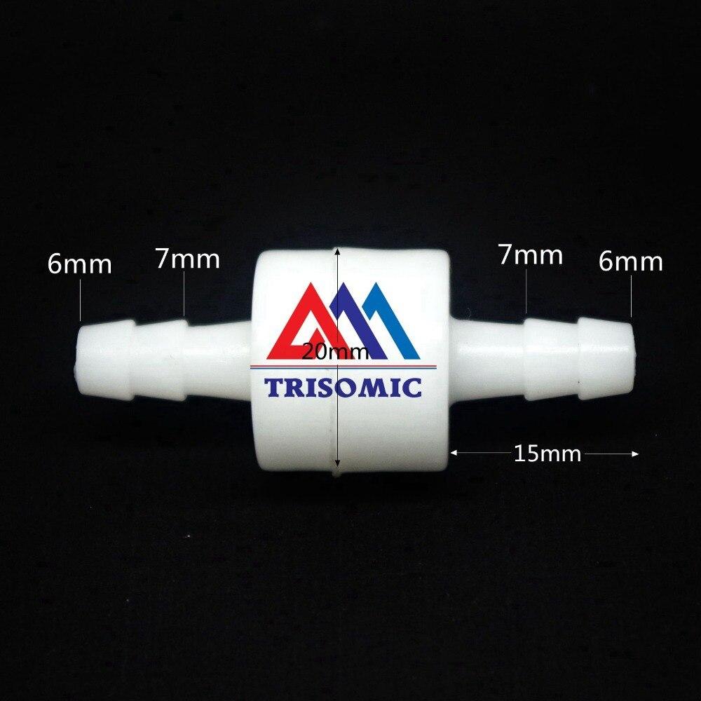 LiebenswüRdig 6mm Einwegventil Material Pom Rückschlagventil Rückschlagventil Druck 0.04mpa-1.0mpa Weiß Typ Säure Und Laugenbeständig Heimwerker