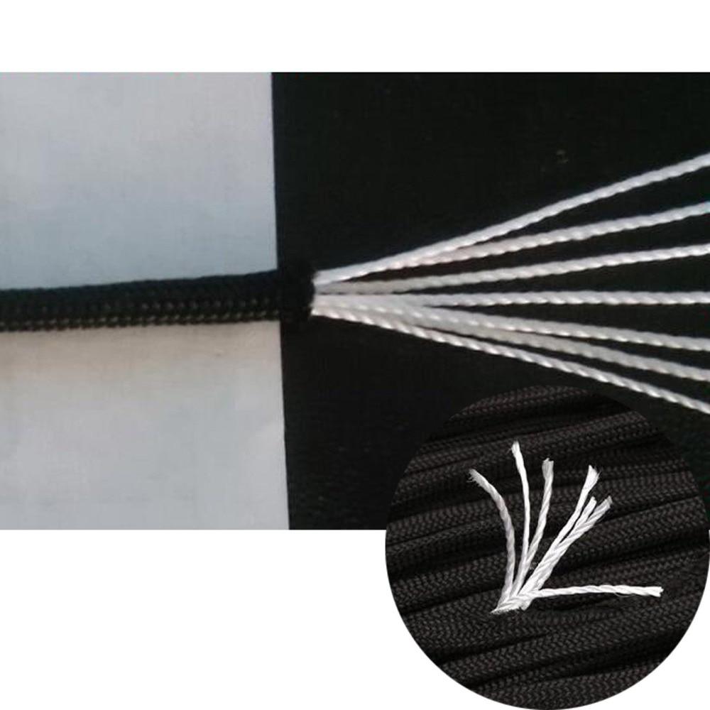 Купить с кэшбэком 7pcs Paracord Bracelet Cord Lifeline Parachute Rope Outdoor Survival Safe Rope Set DIY Hand Woven Hiking Accessories 3m