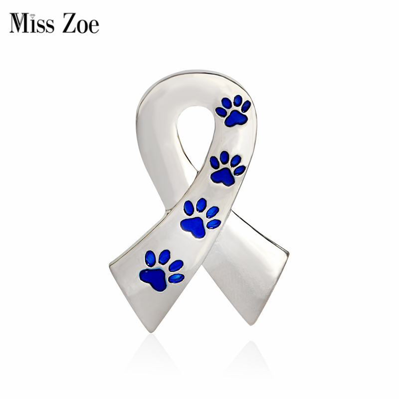 Miss Zoe Scarf Shaped with Dog Paws Cat Kitten Brooch Pins for Sweater Pin Badges Gift Jewelry for Dog Owner Women Girl Kids