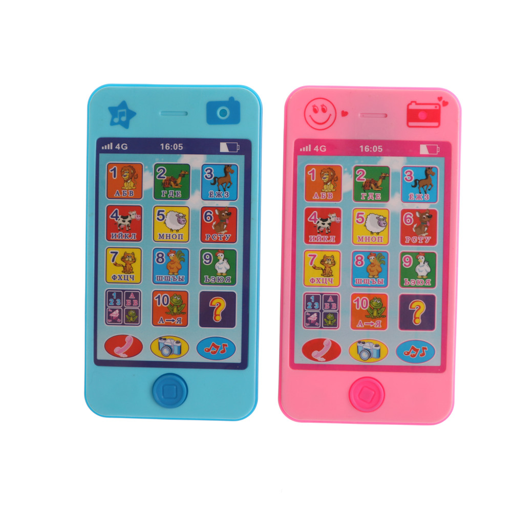 Kids Russian Baby Language ABC Alphabet Music Math Early Learning & Education Machines Mobile Phone Toy