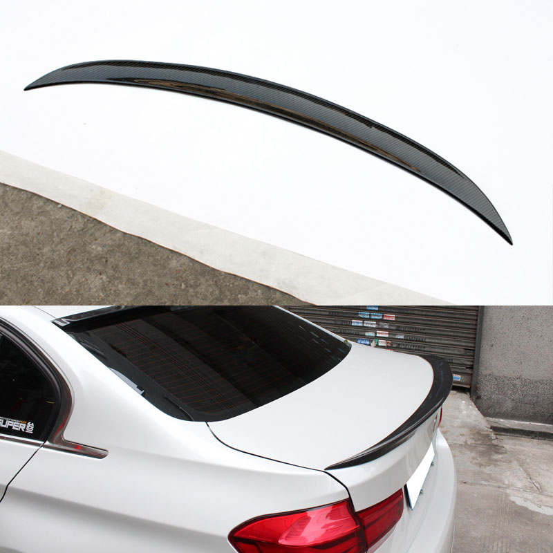 P Style Carbon Fiber Rear Boot Trunk Spoiler Wing for BMW F80 F30 M3 2015~2016 2015 2016 amg style w205 carbon fiber rear trunk spoiler wings for mercedes c class c180 c200 c250 c300 c350 c400 c450 c220