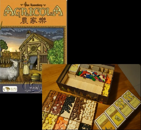 Agricola Card Game Storage Box Organizer For Wooden Receiving Compact Case The Broken Token Box Laser Cutting Size 307x217x52mm