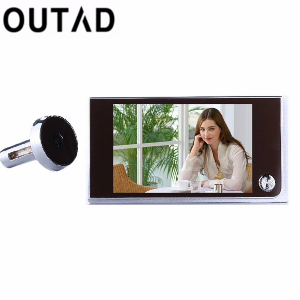 OUTAD Multifunction Home Security 3.5inch LCD Color Digital Peephole Viewer TFT Memory Door Eye Doorbell Color Camera Top Sale x5 home smart doorbell security door peephole camera electronic cat eye and hd pixels tft color screen display audio door bell