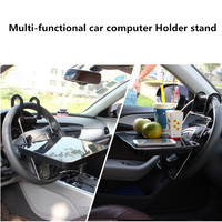 Portable Car Seat/Steering Wheel Laptop/Notebook Tray Table Foldable Car Laptop Desk Computer Stand Food Drink Holder Rack