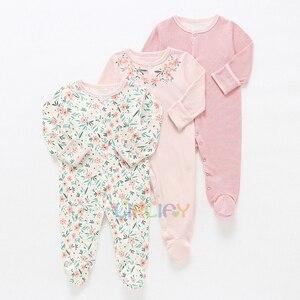 Image 2 - Bebê menina/menino macacão bebê 3 em 1 flor recém nascido roupas do bebê recém nascido macacão infantil primavera/outono/inverno pijamas