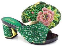 CSB5100 grün pfirsich rot und gelb 2016 Afrika neueste mode schuhe passender tasche für party geldbörse mit high heels schuhe
