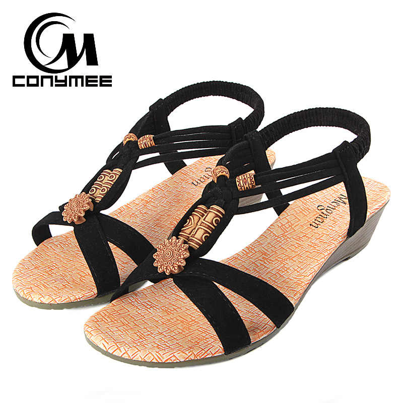 5596dfd74 Detail Feedback Questions about CONYMEE Summer Wedges Sandals 2018 ...