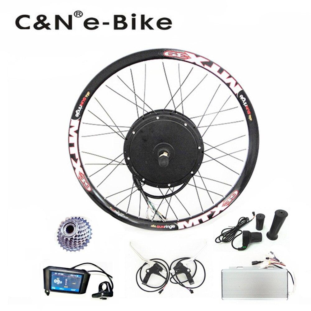 2018 Super speed 5000w powerful wheel hub motor kits with TFT display electric bike conversion kit