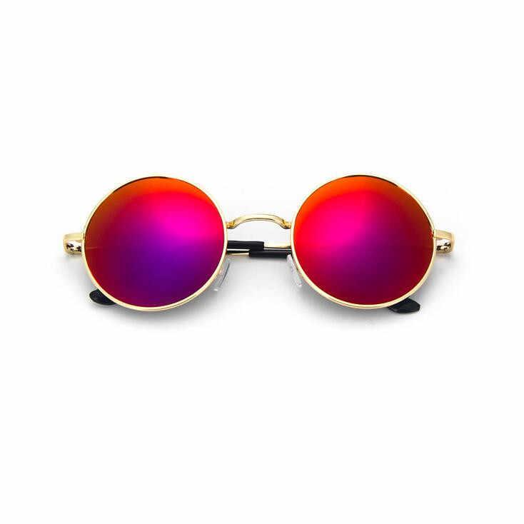 b1a8760dfbe ... Steampunk Round Sunglasses Stylish Metallic Color Film Men s   Women s  Ultraviolet Polarized Metal Frame Retro Sunglasses ...
