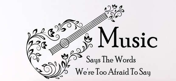 Music vinyl wall decal guitar musical notes lettering - Over the garden wall soundtrack vinyl ...