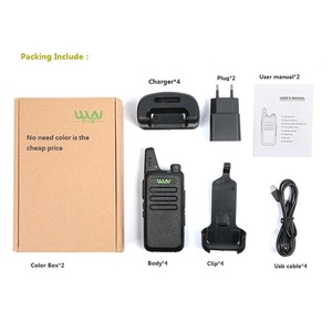 Image 3 - 4PCS Portable Radio WLN KD C1 Mini Wiress Walkie talkie UHF Handheld Two Way Radio Communicator Transceiver Walkie talkie рация