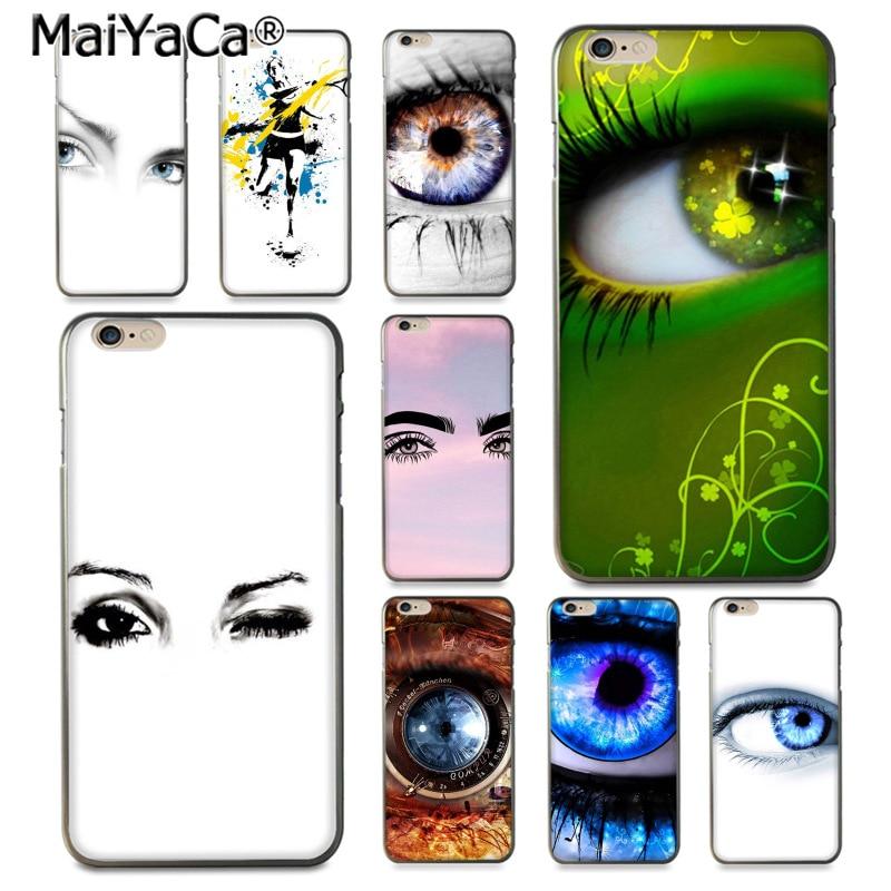 MaiYaCa Beautiful Eyes Luxury Hybrid phone case for iPhone 8 7 6 6S Plus X 10 5 5S SE 5C Coque Shell