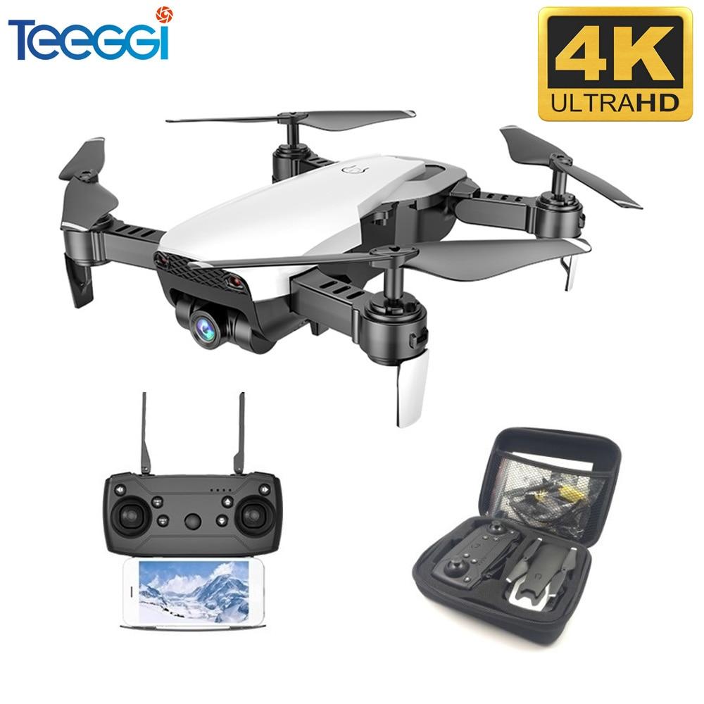 Teeggi M69G FPV RC Drone 4K with 1080P Wide-angle WiFi HD Camera Foldable RC Mini Quadcopter Helicopter VS VISUO XS809HW E58 M69
