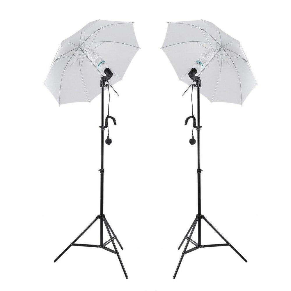 (Navire Du ROYAUME-UNI) Professionnel Photographie Photo Studio Éclairage Continu Kit Backdrop Stand Parapluie Lampe Set UK Plug