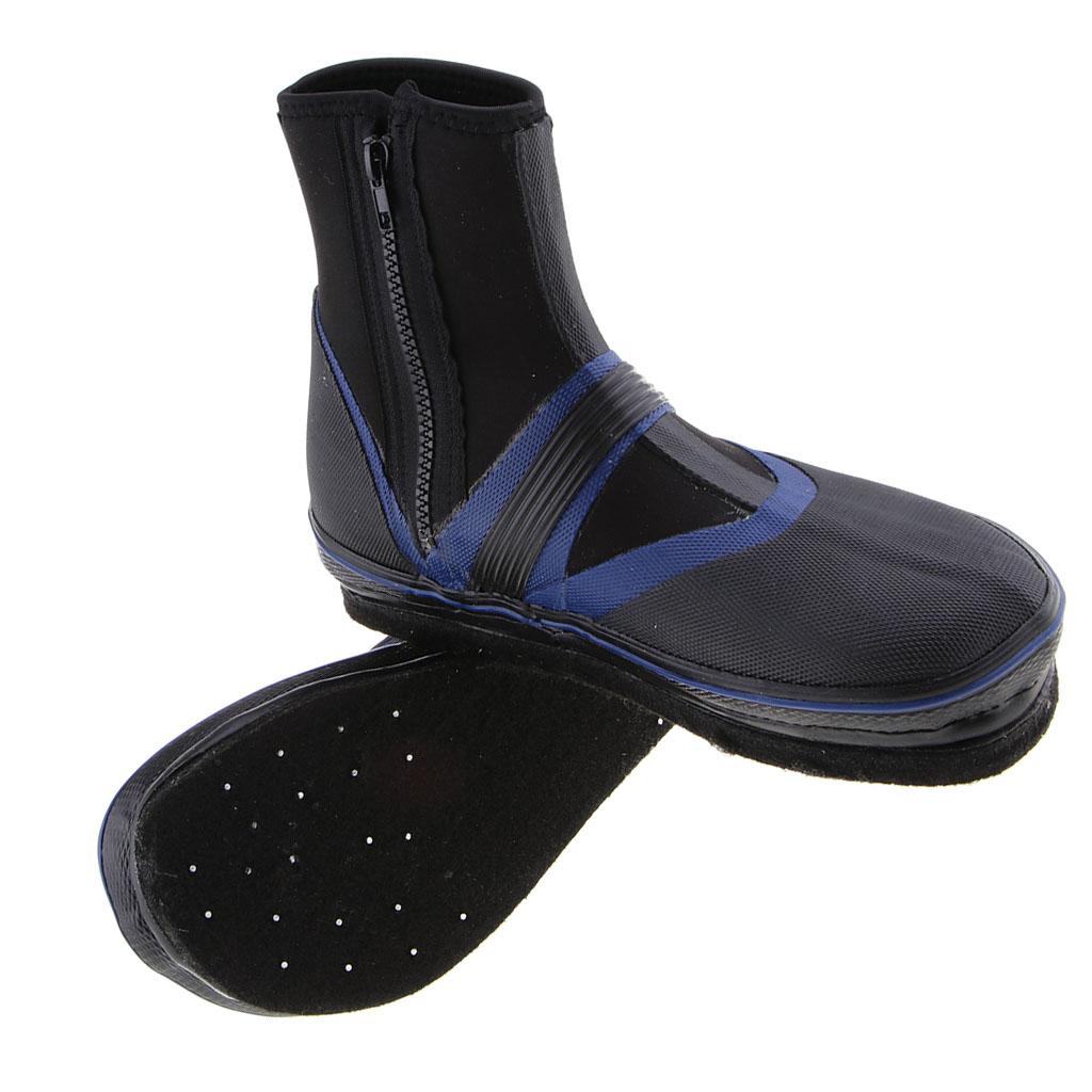 Bottes de pêche en néoprène chaussures ongles antidérapants pointes chaussures de pataugeoire sèches canotage kayak clous en acier au fond échassiers de pêche