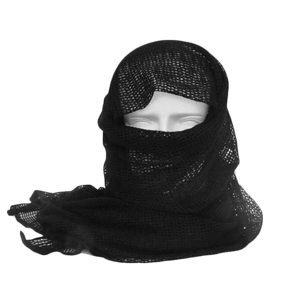 Vehemo хлопок оливковое маска для защиты лица полевое, для выживания шарфы для женщин тактический шарф сетчатый ветер - Цвет: black mesh