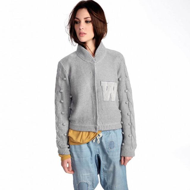 Otoño nuevo vestido de suéter de cuello alto Ropa de cultivan su moralidad femenina moda letras simples