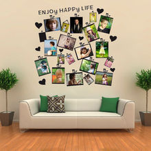20Pcs Family Picture Photo Frame Wall Sticker Heart Quote Mural Home Decor Decal Decoration Stickers