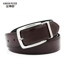 2016 Belt Cummerbunds Luxury Men Brand Real Leather 35mm Reversible Buckle Belt  Black Brown Designer Belt For Men High Quality