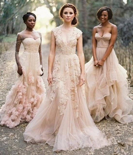 Vintage Chic Wedding Dresses: Aliexpress.com : Buy Vintage V Neck Lace Wedding Dresses
