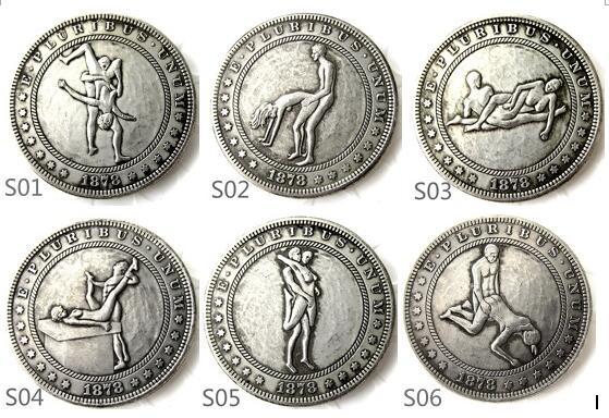Nichtwährungs-münzen GüNstig Einkaufen Uns 1879cc-1882cc Sexy Morgan Dollar Silber Überzogen Kopieren Münzen