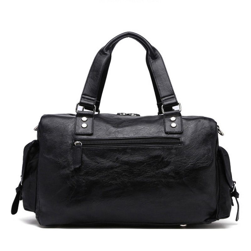 New Trend Mens PU Leather Sports Bag Outdoor Gym Kapasiti Besar Sukan - Beg sukan - Foto 4