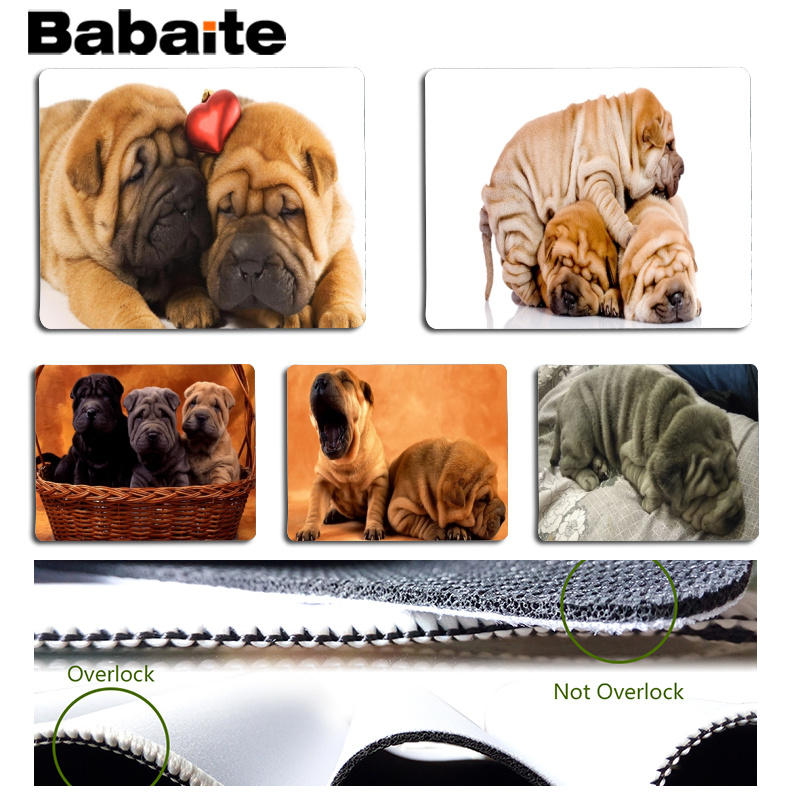 Babaite New Arrivals Shar Pei Customized MousePads Computer Laptop Anime Mouse Mat Size for 18x22cm and 25x29cm Small Mousepad