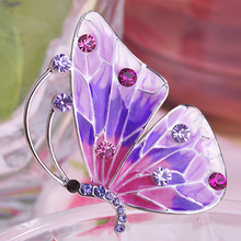 Kawaii Bonito Borboleta Broche Para Mulher Da Marca Brilhante Grandes Broches de Casamento Acessórios Esmalte De Unhas Esmalte Agradável Broches