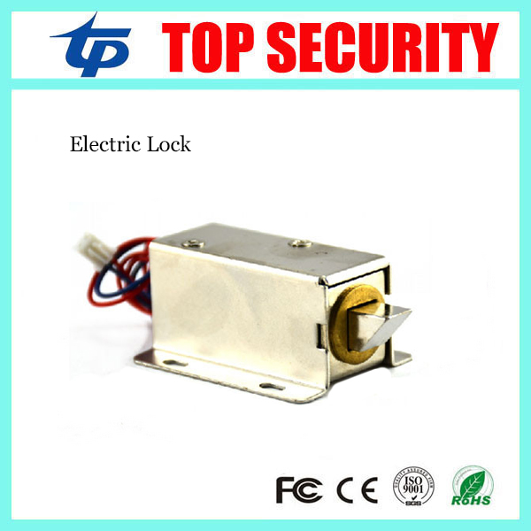 Free shipping electric cabinet lock electronic NO type fail secuirty cabinet lock electric lock door control lock 12v cabinet case electric solenoid magnetic lock micro safe cabinet lock storage cabinets electronic lock file cabinet locks