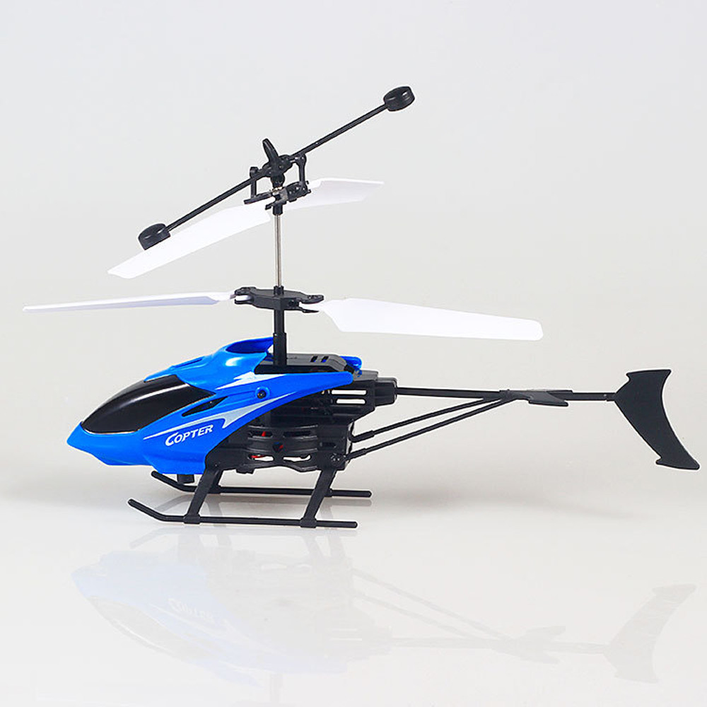 Image 2 - Flying Mini RC Infraed Induction Helicopter Aircraft Flashing Light Toy For Kids USB Charging  induction Helicopter Aircraft-in RC Helicopters from Toys & Hobbies