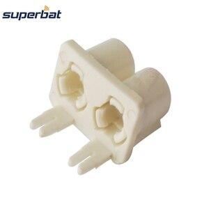 Image 3 - Superbat 10pcs Fakra B Double Plastic Shell White Plug RF Coaxial Connector PCB Mounted Car Radio Intoface SMB