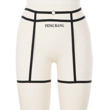 Women Sexy Leg Garter Belt Hollow Garter Belt Suspender Strap Underwear Strap Leg Garter Belt Goth Elastic Cage Body Harnes