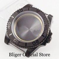 BLIGER Horloge Case 40mm Met Saffier Glas PVD Plated Fit MIYOTA Auto Beweging-in null van Horloges op