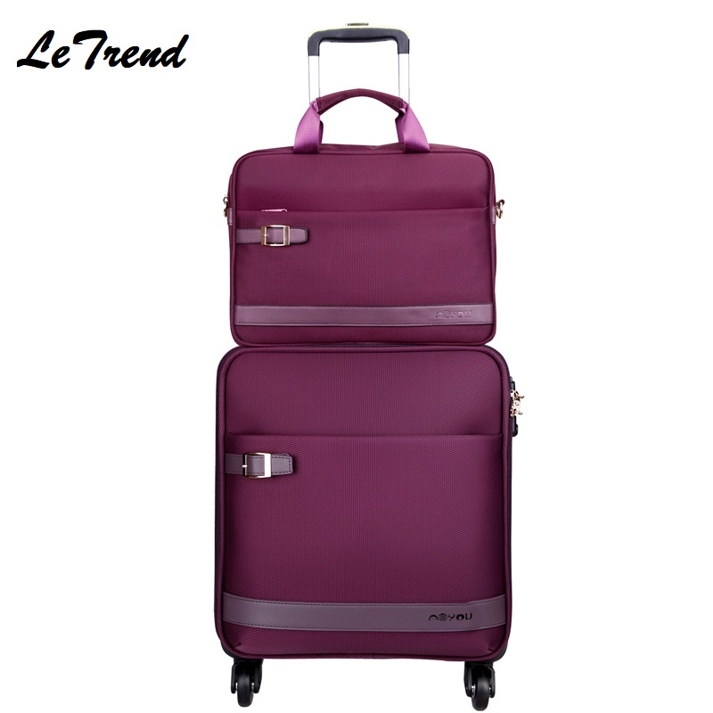 New 16/18/20/22/24 Inch Oxford Rolling Luggage Spinner Trolley Black Men Suitcases Wheels Travel Bag Business Password Box