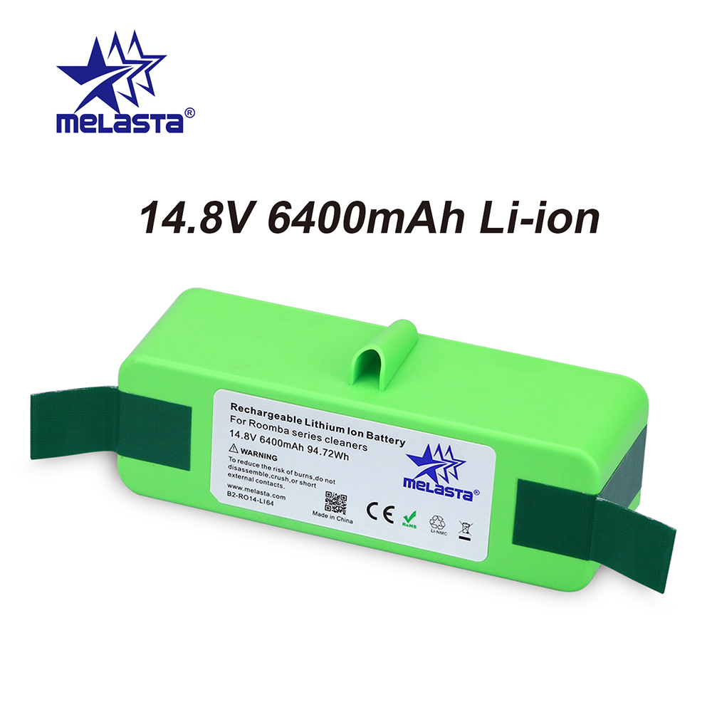 Melasta Upgraded 14.8v 6400mAh Replacement Battery for iRobot Roomba 500 600 700 800 Series corta cinturon de seguridad