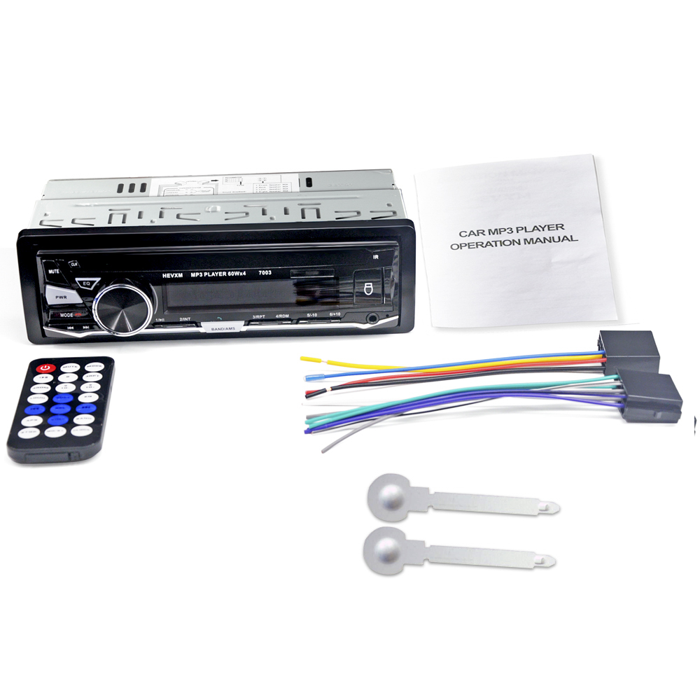 Image 5 - HEVXM 7003  Color Light MP3 Player Radio  Car MP3 Player 12V  BT  Car Stereo Audio In dash Single 1 Din  Aux Input-in Car MP3 Players from Automobiles & Motorcycles