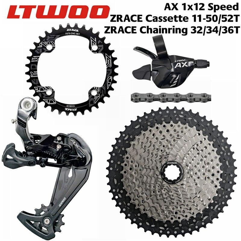 LTWOO Vélo AX12 12 Vitesse Shifter + Arrière Dérailleurs + 50 T 52 T ZRACE Cassette/Plateau + SUMC s12 Chaîne Groupset, pour Aigle 12